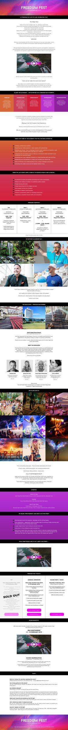 www.freedomfest.com Entrepreneur, Personal Branding, Page Design, Branding Design, Corporate Design, Identity Branding, Self Branding, Brand Design