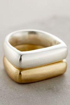 Made Brass Stacking Rings #anthrofave