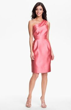 Eliza J One Shoulder Faille Dress | Nordstrom