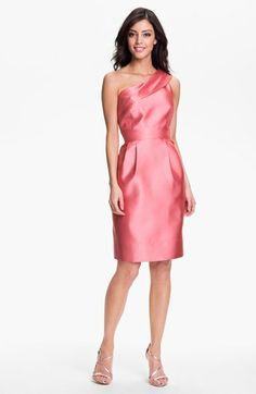 Eliza J One Shoulder Faille Dress   Nordstrom