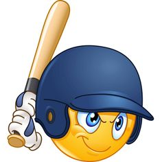 Baseball batter or hitter player emoticon Facebook Emoticons, Animated Emoticons, Funny Emoticons, All Emoji, Emoji Love, Smiley Emoji, Funny Emoji Faces, Emoticon Faces, Smiley Faces