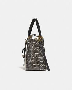 19316fe272a2 Coach Cooper Carryall in Colorblock With Genuine Snakeskin Detail Alternate  View 1 Handbags