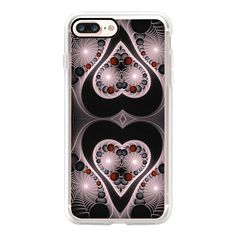 Raod Angel Digital abstract hearts and spiders web fractal pattern -... ($40) ❤ liked on Polyvore featuring accessories, tech accessories, iphone case, apple iphone case, iphone cover case, iphone cases, pattern iphone case and print iphone case