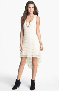 Secret Charm Crochet High/Low Dress (Juniors) available at Junior Dresses, Nordstrom Dresses, My Wardrobe, Wedding Stuff, High Low, Style Me, Fashion Dresses, Crochet, Outfits