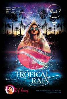 Tropical Rain Free PSD Poster Template - http://freepsdflyer.com/tropical-rain-free-psd-poster-template/ Enjoy downloading the easy to use Tropical Rain Free PSD Poster Template crated by Bestofflyers!   #Club, #Concert, #Dance, #Dj, #EDM, #Electro, #Gig, #Live, #Minimal, #Music, #Nightclub, #Panda, #Party, #Sound