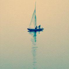 sailboat #illustration#artwork#drawing#sailboat by e_takuro