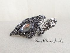 Halloween Ring Gray gothic ring Statement by CrazyDreamsJewelry