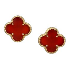 VAN CLEEF & ARPELS ALHAMBRA Carnelian Earrings