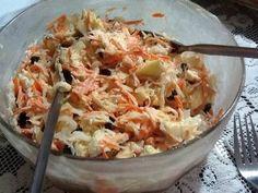 Ensalada de col (repollo) y zanahoria