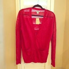 Lucky Brand Sweaters - Lucky Brand small red cardigan