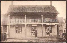 Beebe Plain, Vermont - US & Canadian Double Post Office 1907 Vintage Postcard Quebec