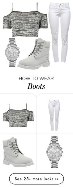 """Untitled #1039"" by pinkunicorn007 on Polyvore featuring Boohoo, Michael Kors, J Brand and Timberland"
