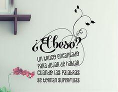 #ViniloTexto Adhesivo ¿el beso?