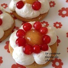 Petite tarte fine melon et groseille / La cuisine facile de chris Tarte Fine, Fake Food, Cookies, Desserts, Mint, Easy Cooking, Food, Recipe, Crack Crackers