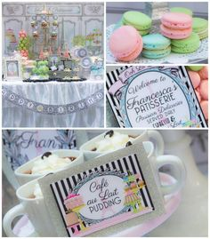 Paris Patisserie themed birthday party via Kara's Party Ideas KarasPartyIdeas.com Cake, decor, printables, invitation, games, and more! #parisparty #parispatisserie (1)