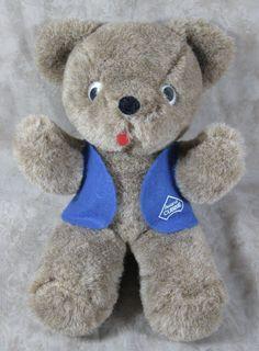 "Vintage 11"" Awana Cubbie Brown Plush Teddy Bear Trudy Stuffed Animal Toy #Trudy"