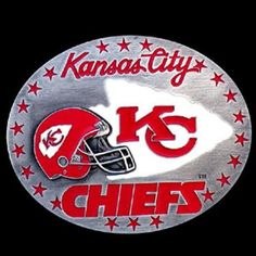 Kansas City Chiefs Nfl Enameled Belt Buckle