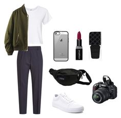 """/"" by kgolubevva on Polyvore featuring мода, Jil Sander, RE/DONE, WithChic, Vans, Belkin, JanSport, Smashbox, Gucci и Nikon"