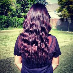 +My new fall hair color ***I could not be more in love with this color. Deep rich brown, plum and red!!! Love love love it!