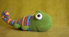 amigurumi chameleon by perlinavichinga, via Flickr