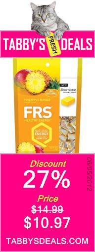 FRS Healthy Energy Soft Chews - 30 Count Bag $10.97