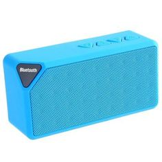 Multifunctional Mini Bluetooth Speaker ! With fashionable and elegant appearance, X3 wireless Bluetooth speaker can almost meet your all the need of a speaker, supporting Bluetooth / line in connectio