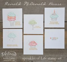Great close up pics on her blog Stampin' Dolce: Ronald McDonald House - Artisan Design Team Blog Hop