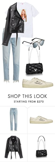 """Untitled #832"" by elipenaserrano ❤ liked on Polyvore featuring M.i.h Jeans and Yves Saint Laurent"