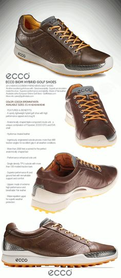 Your new ultra comfortable BIOM Yak Hybrid Golf Shoes by ECCO® in color Cocoa Brown/Fanta 2012. Available sizes: EU 40/41/42/43/44/45/46/47 at the European Online Golf Store - GolfMetals.com