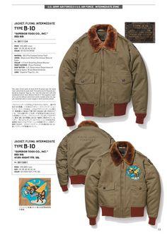 1993年にスタートし、20年以上にわたりヴィンテージミリタリーウェアの魅力を忠実に再現し続けているブランド、BUZZ RICKSON'S(バズリクソンズ)の公式カタログページ Navy Jacket, Bomber Jacket, Jacket Pattern, Fashion Wear, Buzz Rickson's, Work Wear, Military Jacket, Fall Winter, Vintage Fashion