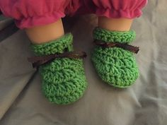 PRICE IS FOR 1 pair of Baby Booties! Our pretend baby and ruler are NOT included in the price - just shown to help you understand the size of the crochet items.  Baby Booties will fit most 3 to 6 mont