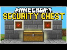 How to make a Security Chest w/ Combination Lock in Minecraft - YouTube
