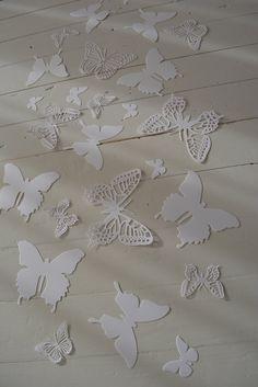 3D Muurvlinders gemaakt van card stock in Wit  Als door SierGoed