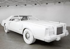 shannon goff recreates her grandfather's 1979 lincoln continental in cardboard