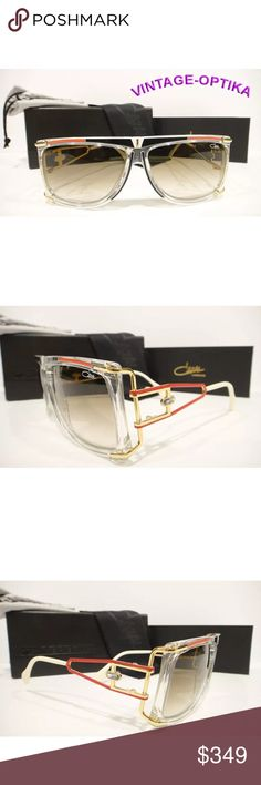 4d777d9ddb7 CAZAL 866 SUNGLASSES CRYSTAL RED BLACK GOLD NEW Authentic Brand New CAZAL  866 SUNGLASSES LEGEND S FRAME