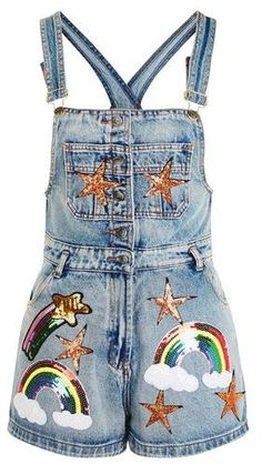 f6f1485f5f Sequin Rainbow Denim Playsuit by Kuccia