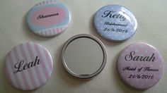 Cute little pocket mirrors. Shabby Chic, stripes and polkadot. Any colour. Very popular for wedding gifts and children's party bags.