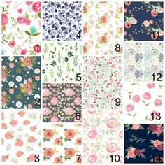 Floral Baby Bedding for Girls