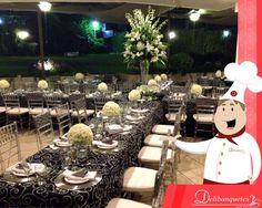 ¡Te presentamos la decoración de uno de nuestros recientes eventos!  Visita nuestro sitio web www.delibanquetes.com.sv y conoce nuestros amplios servicios en el área de banquetería y organización de eventos.
