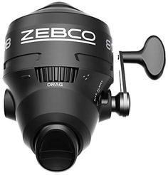 Zebco 808 Spincast Fishing Reel, Powerful All Metal Gears, Quickset Anti-Reverse and Bite Alert, Pre-spooled with 20-Pound Cajun Fishing Line, Clam Pack, Black