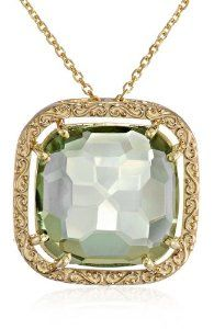 """Kalan by Suzanne Kalan 14k Yellow Gold and Green Envy Topaz Necklace, 18"""""""