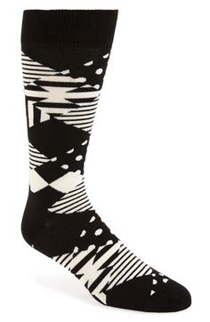 Free shipping and returns on Happy Socks Mixed Print Argyle Socks at Nordstrom.com. Cool contrasting patterns in an argyle formation add an eye-catching twist to soft, comfy crew socks cut from a stretchy combed-cotton blend.