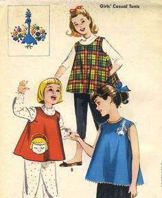 Vintage 50s McCalls 2235 Childs Tent Tunic Top and by RomasMaison