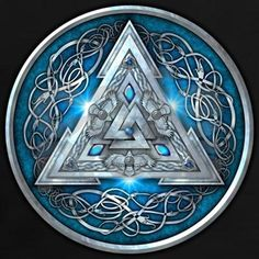 Norse Valknut - Blue Women's Dark T-Shirt