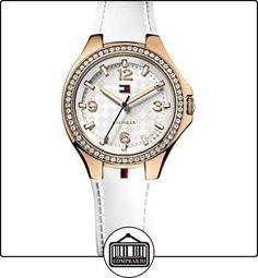 Tommy Hilfiger 1781374 - Reloj de cuarzo para mujer, correa de caucho color blanco  ✿ Relojes para mujer - (Gama media/alta) ✿