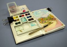 Everyday Artist: Travel Sketch Kit + Texas Travel Sketches--Leslie Fehling.  Awesome travel kit!!