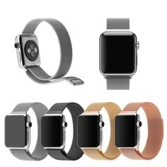Milanese Magnetic Loop Stainless Steel Watch Band Strap For Apple Watch Fit on Apple watch, Watch Sport, Watch Edition. Models for selection: for Apple Watch All stainless steel solid wire mesh with interlock clasp. New Apple Watch Bands, Apple Watch 3, Apple Watch Series 1, Contract Design, Electronic Items, Mesh Bracelet, Stainless Steel Watch, Ebay, Closure