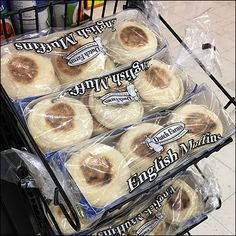 English-Muffin Open-Wire Declined Rack Metal Rack, Bakery, Muffin, Wire, English, Display, Breakfast, Food, Floor Space