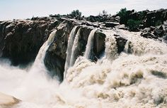 The rushing falls in Augrabies Falls National Park, South Africa