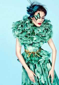 'Haute Couture'. Kati Nescher, Vogue Paris.